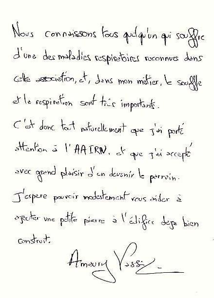Lettre Amaury